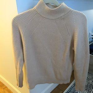 Cream Mango mock neck sweater. Never worn